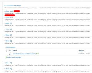 SharePoint 2010: Weppartfehler Zugriff verweigert. (Access Denied Web Part Error)