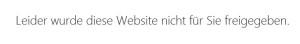 Fehlermeldung bei nicht ausreichenden Zugriffrechten auf eine SharePoint 2013 Website