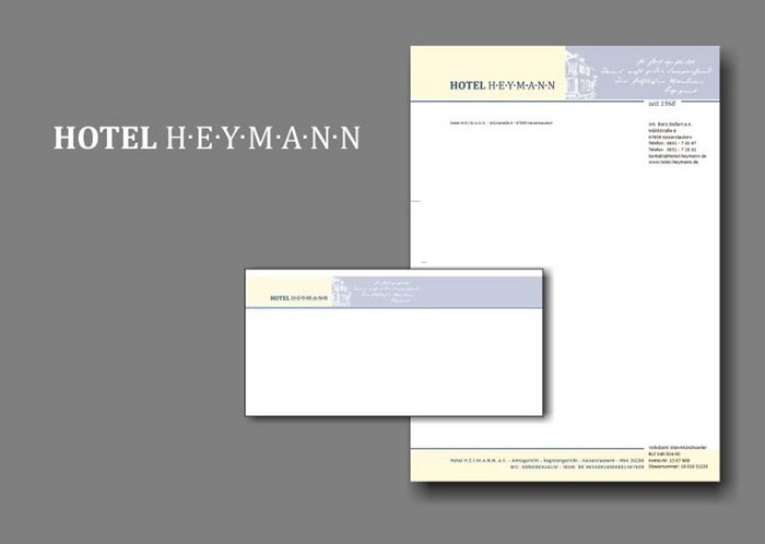 Briefpapier, Briefumschlag, Briefhülle Hotel